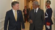Luego de hacer un recorrido por los pasillos de la Casa de Nariño Kofi Annan, el presidente Santos dijo:«De Kofi Annan tenemos mucho por aprender: su tesón y su constancia […]