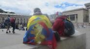 En la Plaza de Bolívar de Bogotá, donde se había programado la celebración del triunfo de Colombia. La tristeza fue evidente de los pos hinchas que quedaron.   Colombia […]