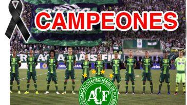 La Associação Chapecoense de Futebol recibirá todos los honores y prerrogativas de Campeón de la Copa Sudamericana 2016.El Club Atlético Nacional de Medellin recibirá todos los honores y prerrogativas de […]