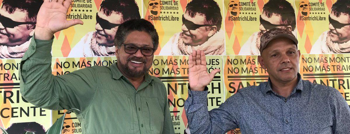 Minutos antes de abandonar lazona de reincorporación en Miravalle, en el norte de Caquetá, «El Paisa», posa con el dirigente Iván Márquez, al fondo afiches que reclaman la inocencia de […]
