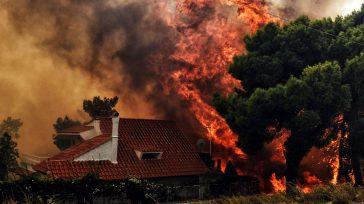 Las llamas arrasan todo a su paso.       El fuego se originó en un pinar de las montañas de Gerania, en los alrededores de Atenas. […]