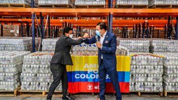 El gobernador de Cundinamarca Nicolás García Bustos y el gerente de la Empresa de Licores de Cundinamarca Jorge Enrique Machuca López, con las ayudas al departamento de San Andrés.  […]